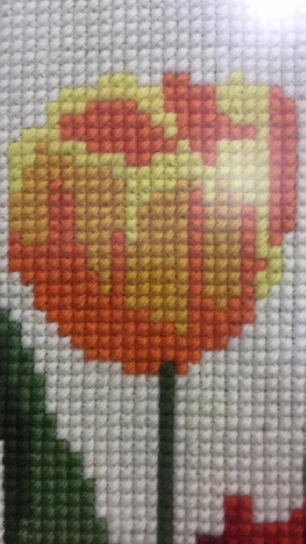 Floral Needlepoint Artwork - 6