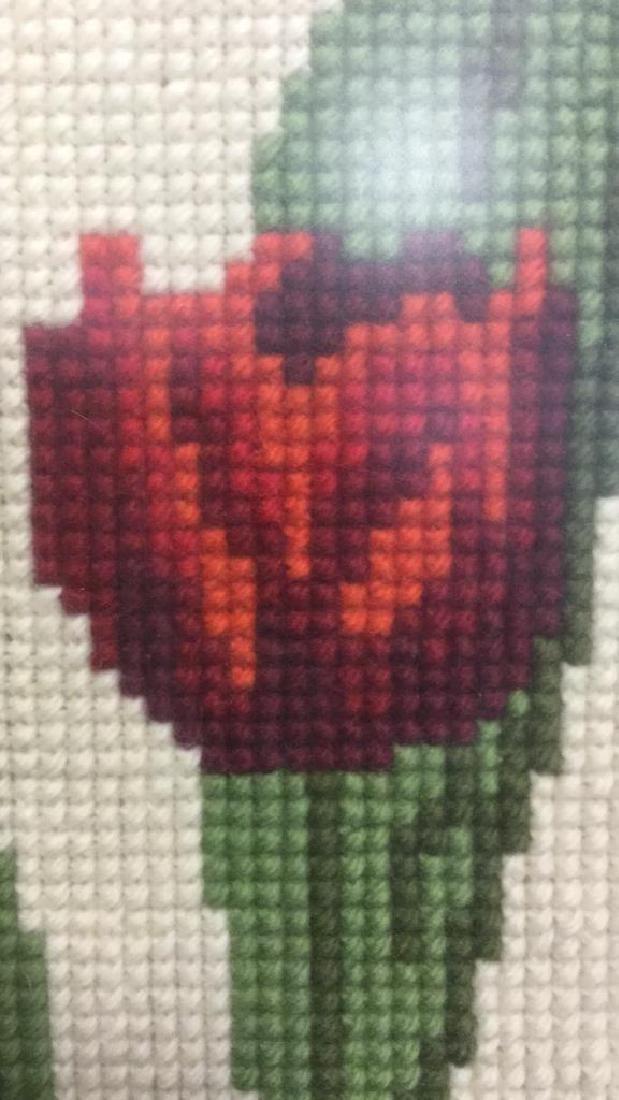 Floral Needlepoint Artwork - 7