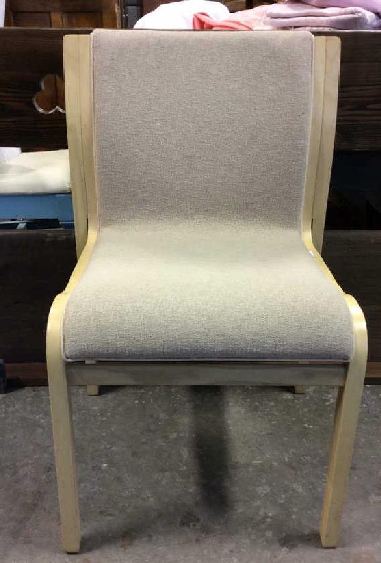 Lot 3 Wooden Cushioned Chairs - 2