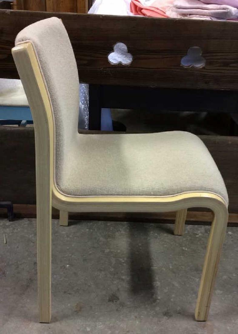 Lot 3 Wooden Cushioned Chairs - 3