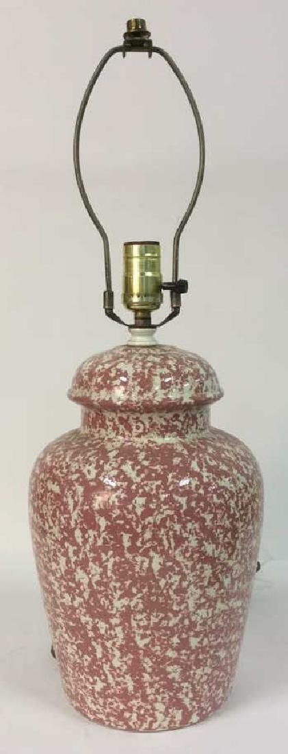 Pink & Cream Toned Splatter Lamp - 2