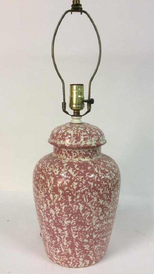 Pink & Cream Toned Splatter Lamp - 3