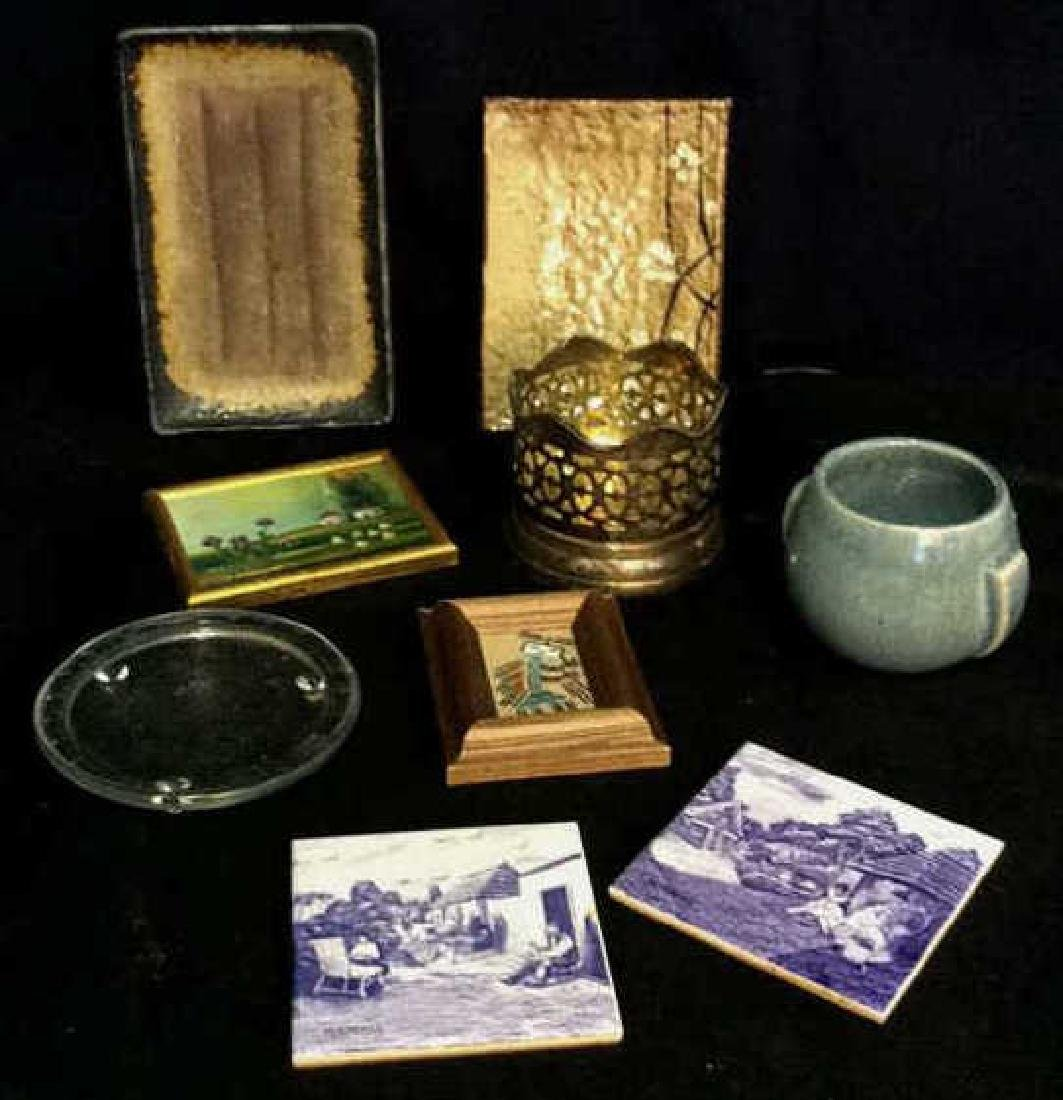 Lot 9 Assorted Tabletop Accessories