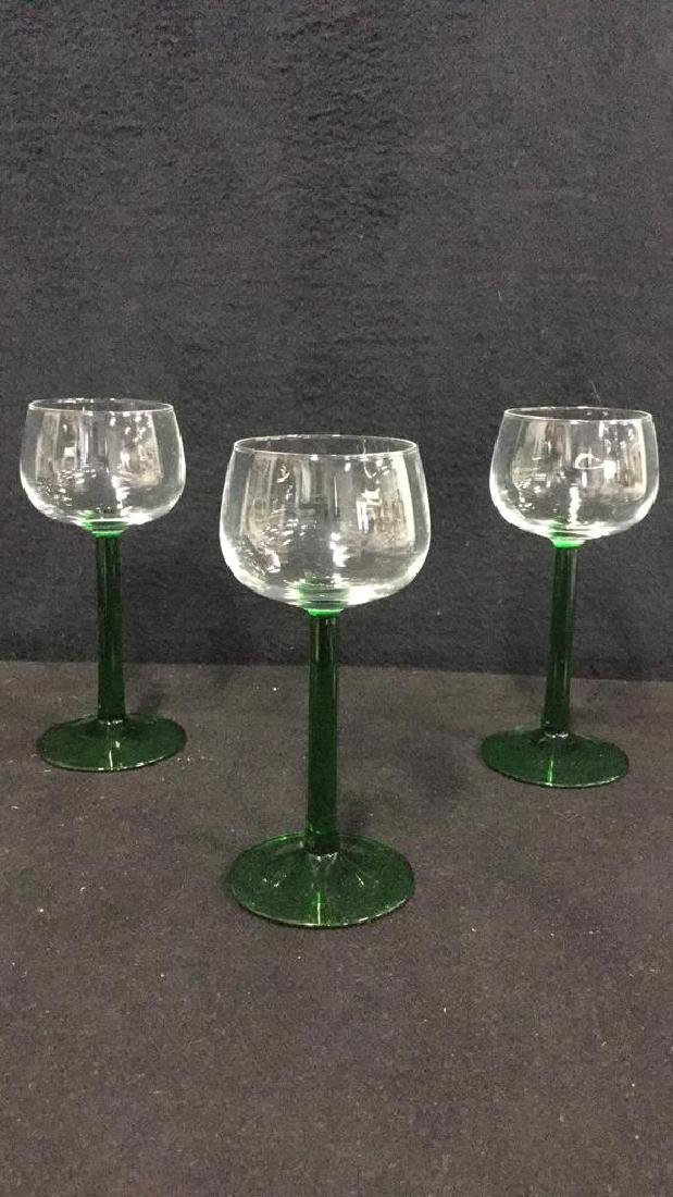 Lot 9 Vintage Mixed Collection Of Cordial Glasses - 4