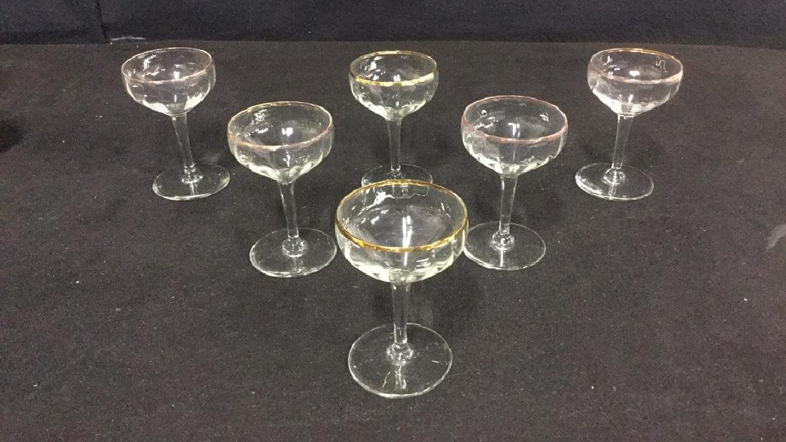 Lot 9 Vintage Mixed Collection Of Cordial Glasses - 6