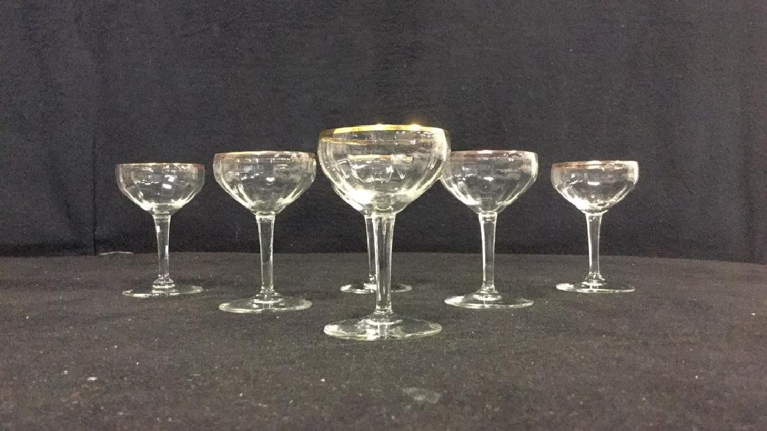 Lot 9 Vintage Mixed Collection Of Cordial Glasses - 7