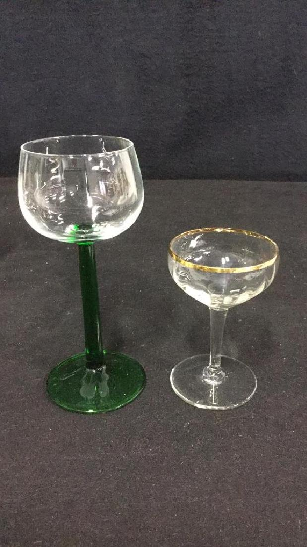 Lot 9 Vintage Mixed Collection Of Cordial Glasses - 9