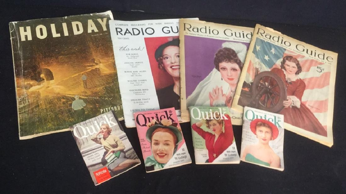Group Lot 8 Vintage Magazines From 1930's-50's