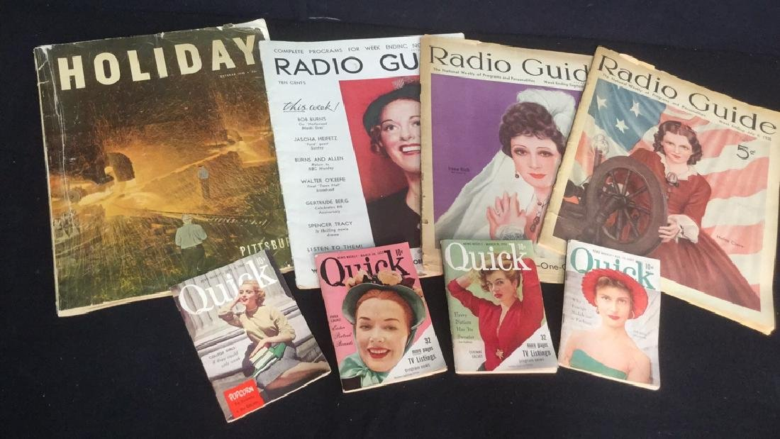 Group Lot 8 Vintage Magazines From 1930's-50's - 5