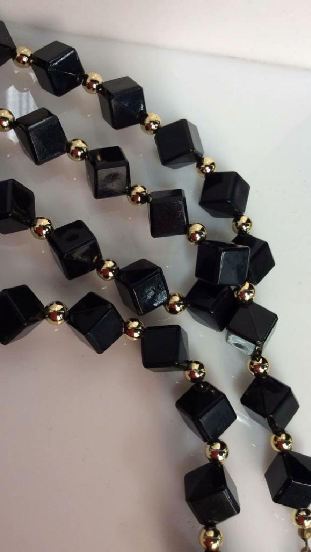 Costume Jewelry Cube Beaded Necklace