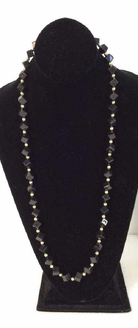 Costume Jewelry Cube Beaded Necklace - 2