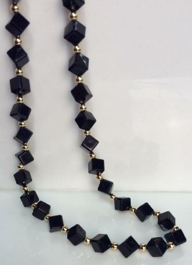 Costume Jewelry Cube Beaded Necklace - 3