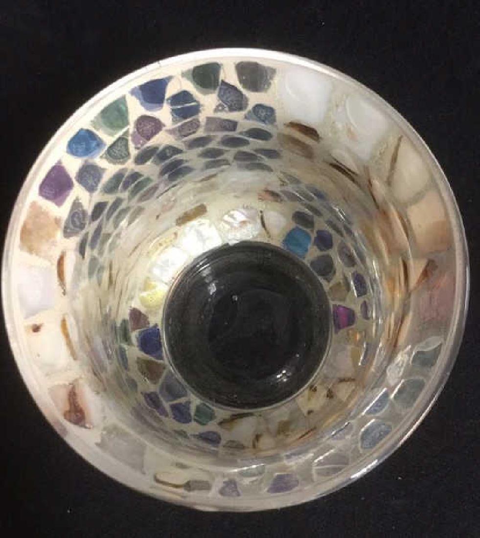 Mosaic Hurricane Glass Candle Holder - 4