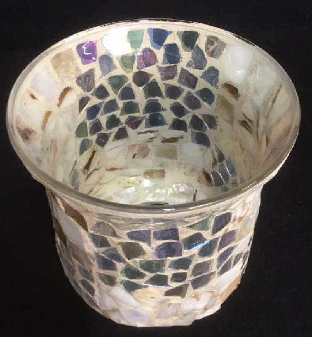 Mosaic Hurricane Glass Candle Holder - 5
