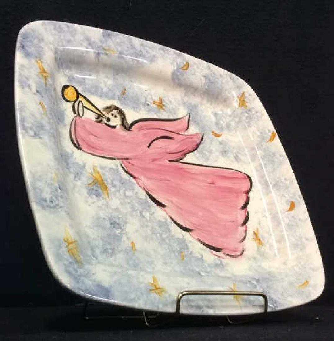 Marked Rounded Square Shaped Angel Plate - 2