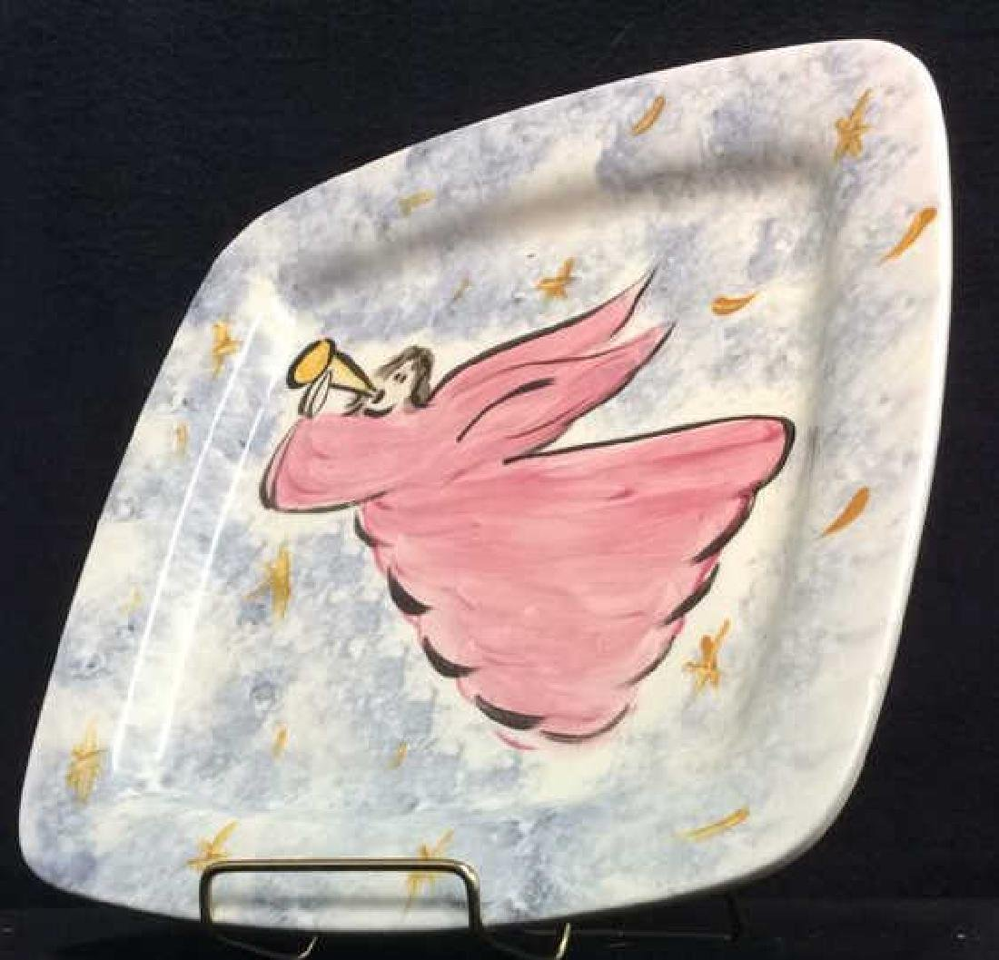 Marked Rounded Square Shaped Angel Plate - 3