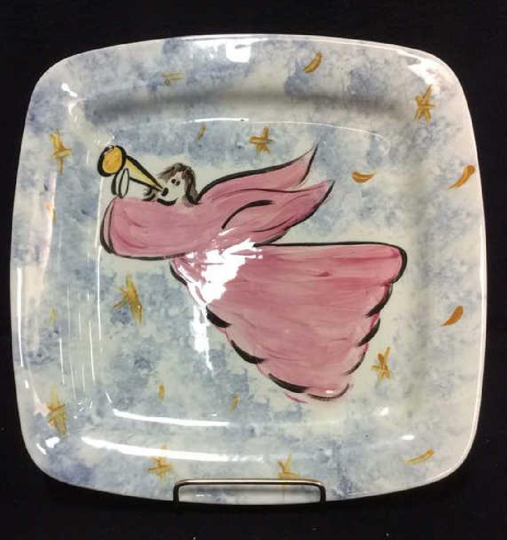 Marked Rounded Square Shaped Angel Plate - 4