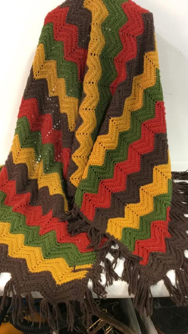 Loose Knit Fringed Throw Blanket