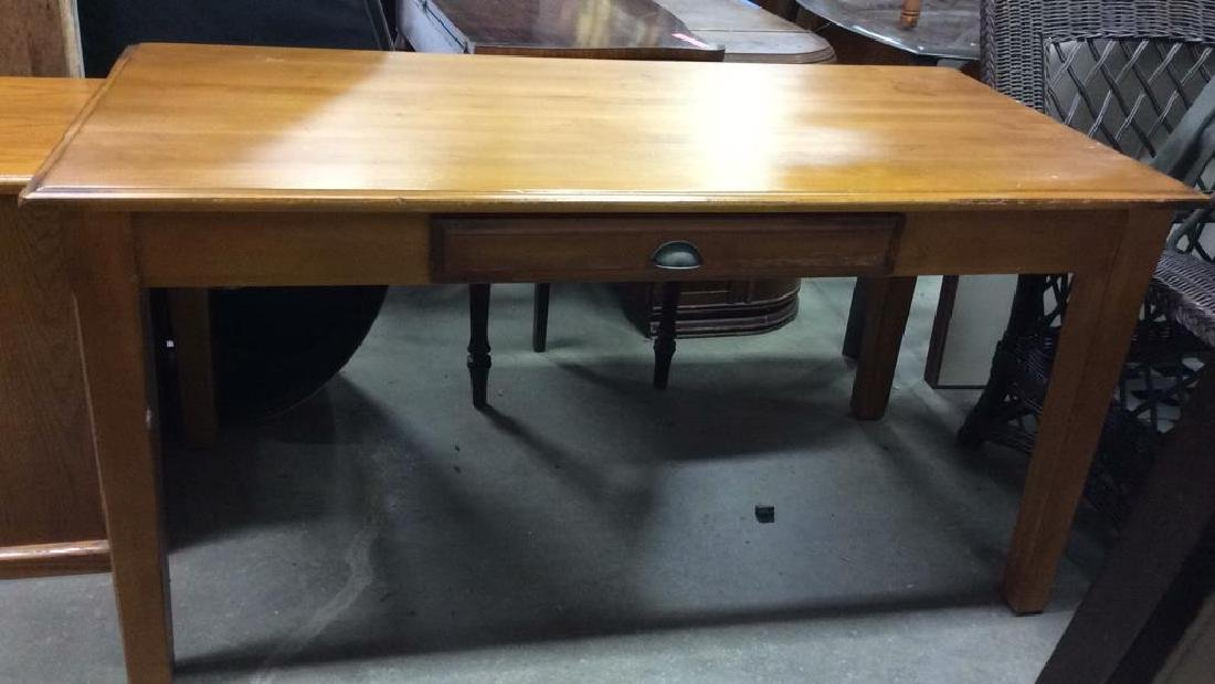 Wooden Single Drawer Writing Desk or Table