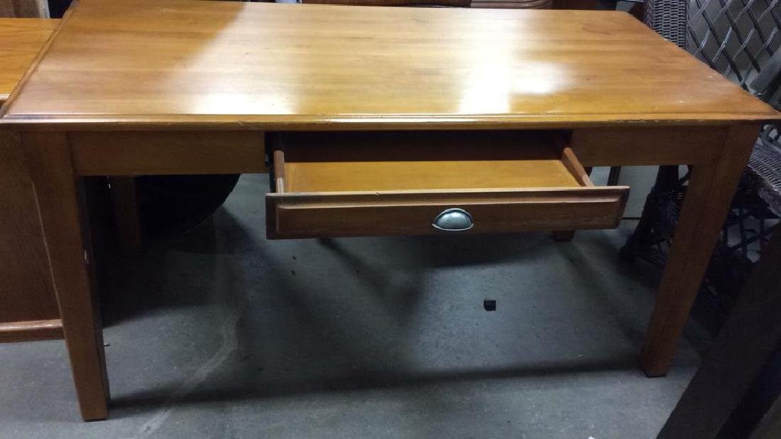 Wooden Single Drawer Writing Desk or Table - 2