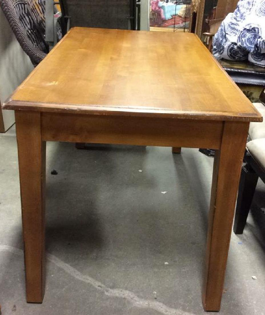 Wooden Single Drawer Writing Desk or Table - 4