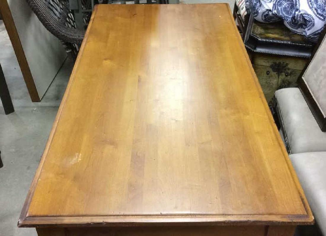 Wooden Single Drawer Writing Desk or Table - 5