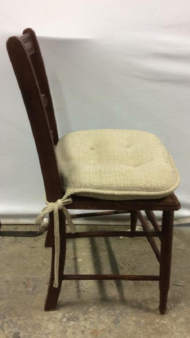 Vintage Wooden Side Chair w loose cusion seat - 4