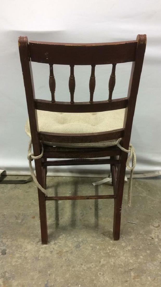 Vintage Wooden Side Chair w loose cusion seat - 5