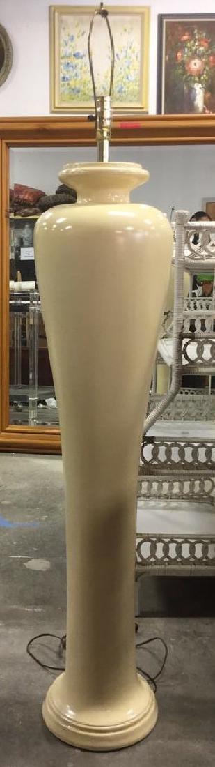 Oversized Ceramic Cream Toned Floor Lamp