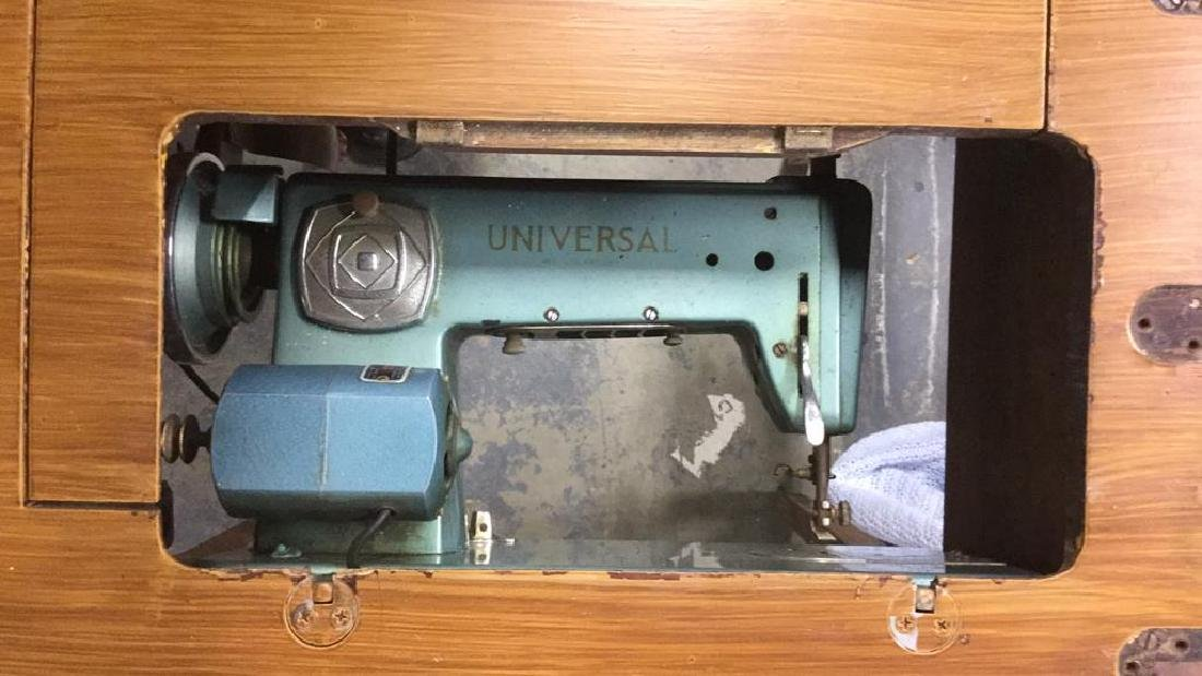 UNIVERSAL Sewing Machine Table with Machine - 7
