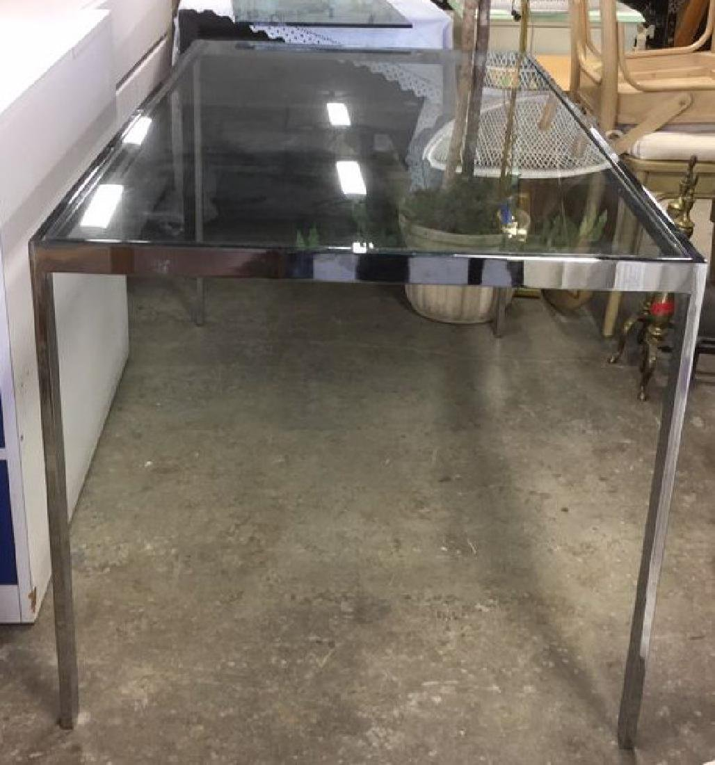 Contemporary Chrome & Glass DiningTable