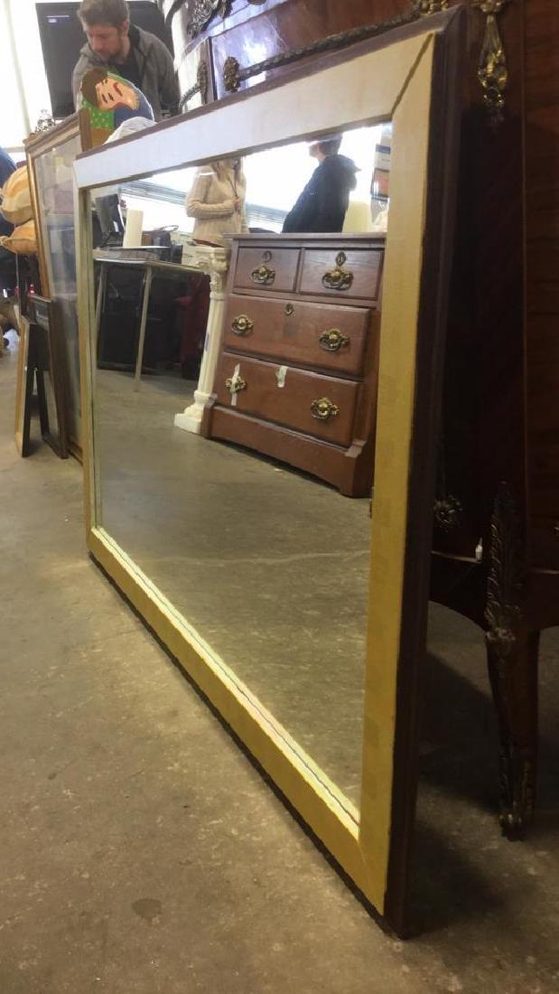 Wood Framed Painted Rectangular Mirror - 2