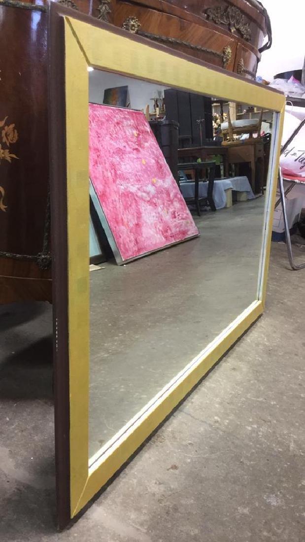 Wood Framed Painted Rectangular Mirror - 3