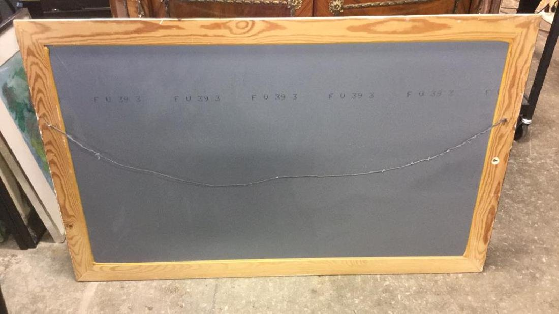 Wood Framed Painted Rectangular Mirror - 4
