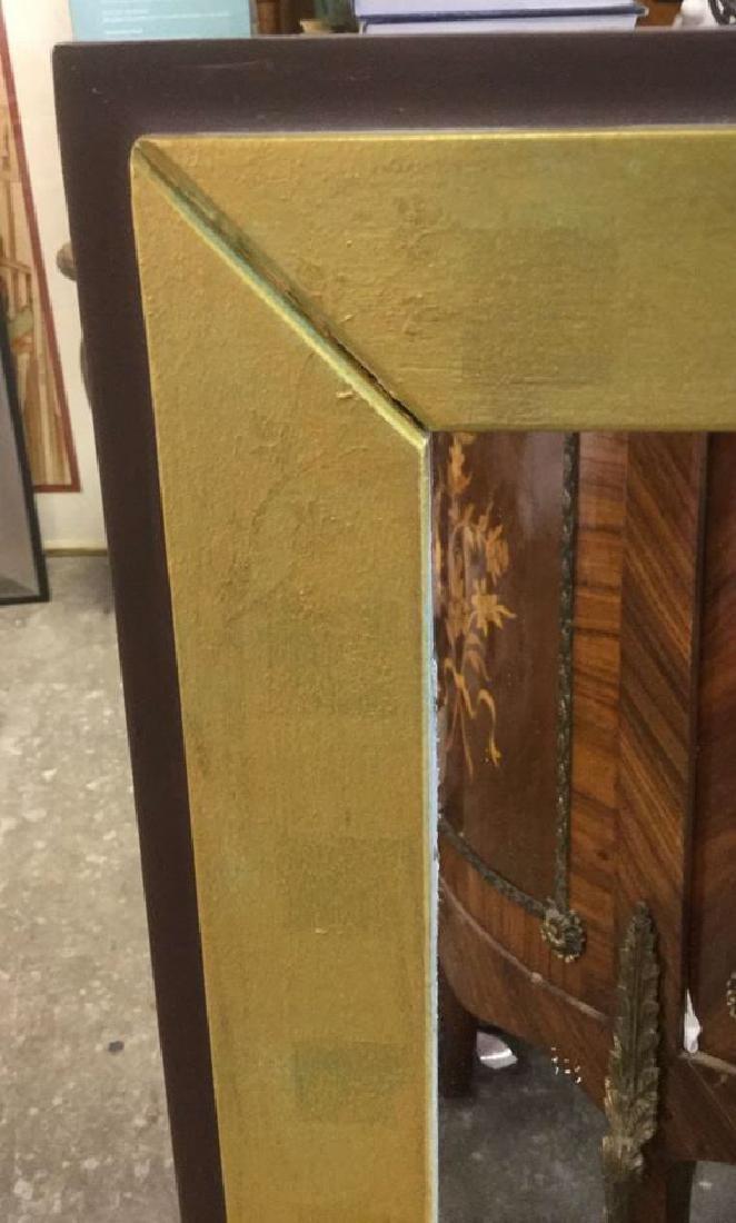 Wood Framed Painted Rectangular Mirror - 5