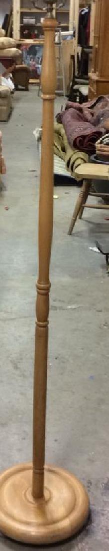 Wooden Floor Lamp W Shade - 4