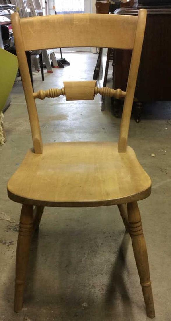 Vintage Carved Wooden Side Chair