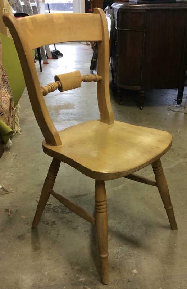 Vintage Carved Wooden Side Chair - 2