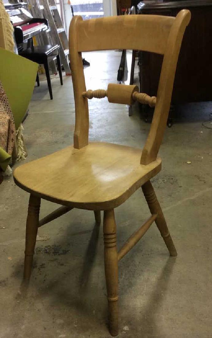 Vintage Carved Wooden Side Chair - 3