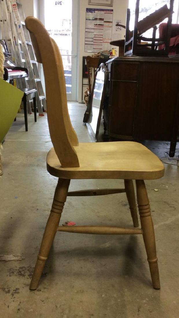 Vintage Carved Wooden Side Chair - 6