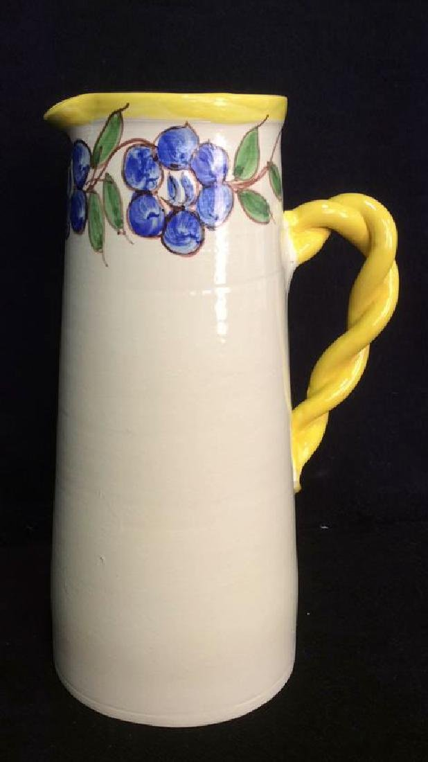 Hand Painted Studio Art Pottery Ceramic Pitcher