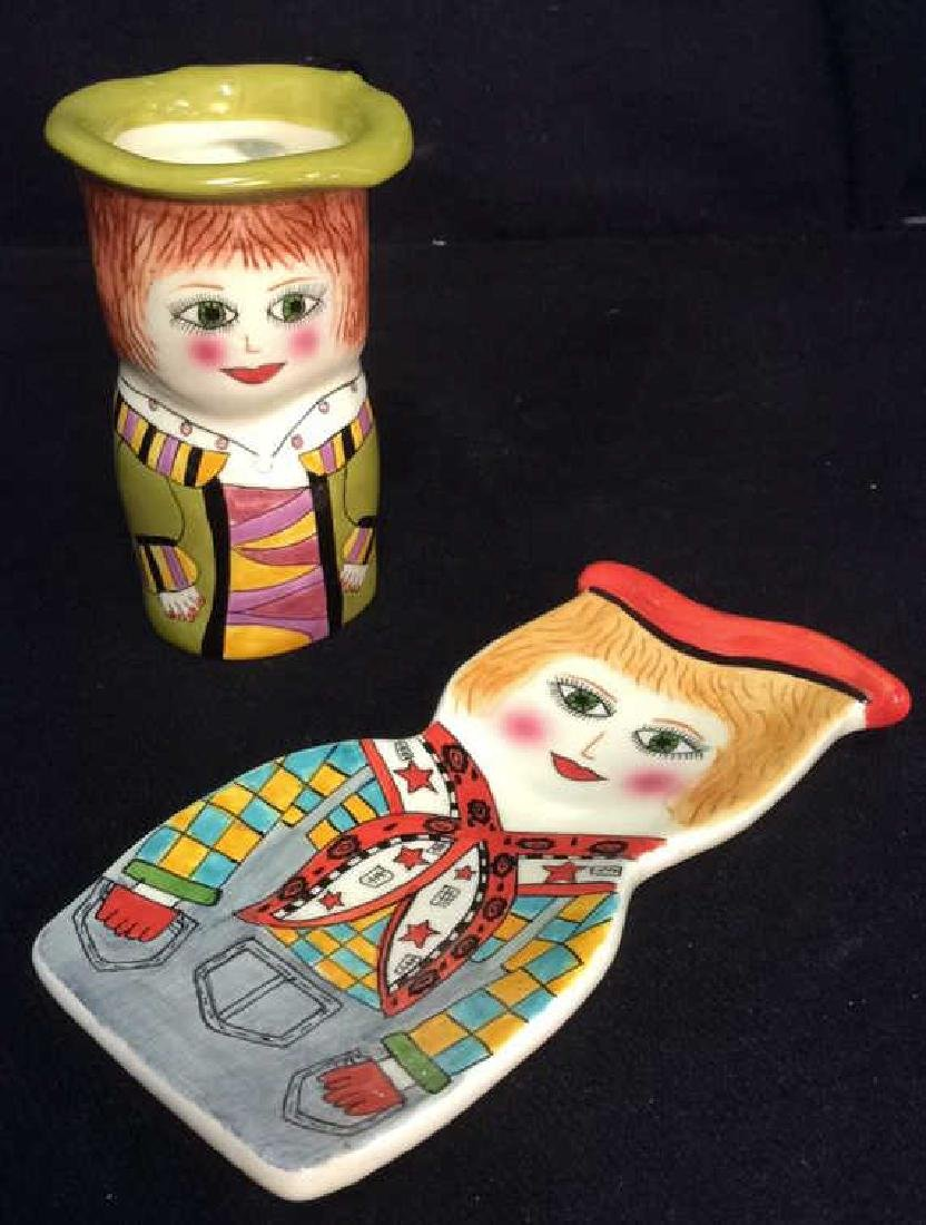 Lot 2 Susan Paley Hand Painted Studio Pottery