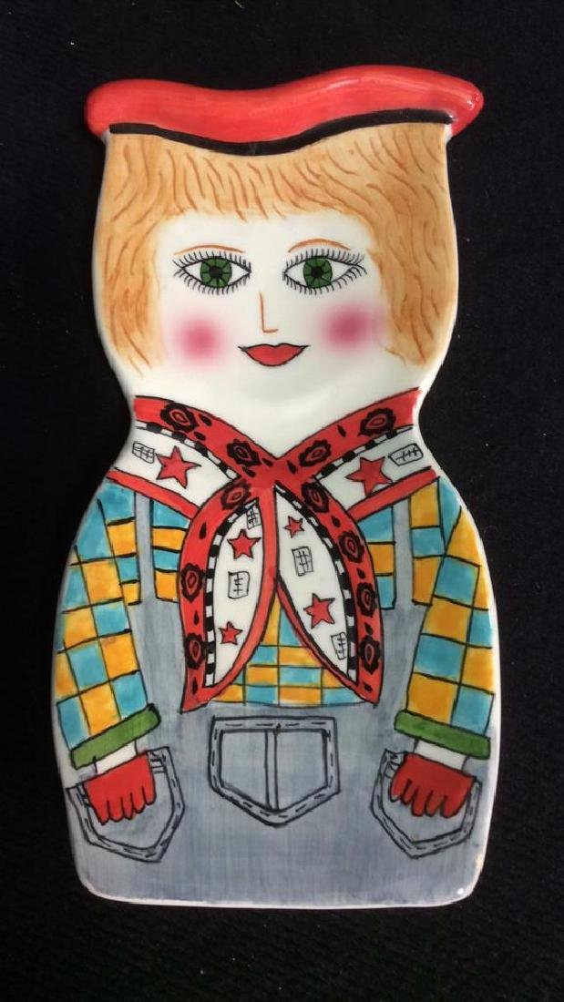 Lot 2 Susan Paley Hand Painted Studio Pottery - 2