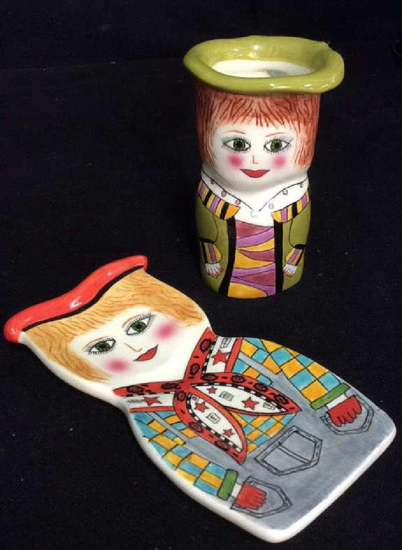 Lot 2 Susan Paley Hand Painted Studio Pottery - 7