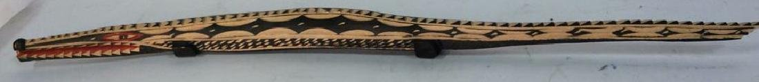 Carved Alligator/Crocodile Folk Art Sculpture