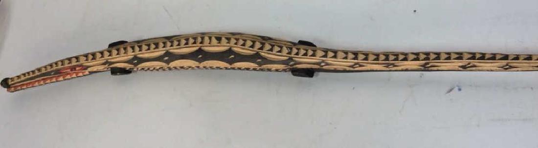 Carved Alligator/Crocodile Folk Art Sculpture - 2