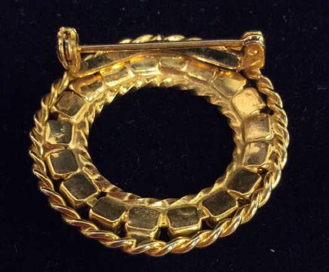 Lot 3 Gold Toned Metal Brooch Pins Jewelry - 9