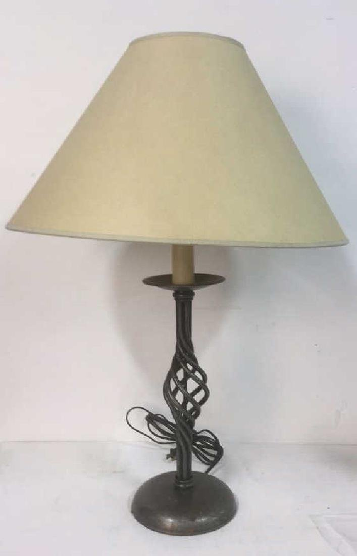 Silver Toned Metal Table top or Desk Lamp