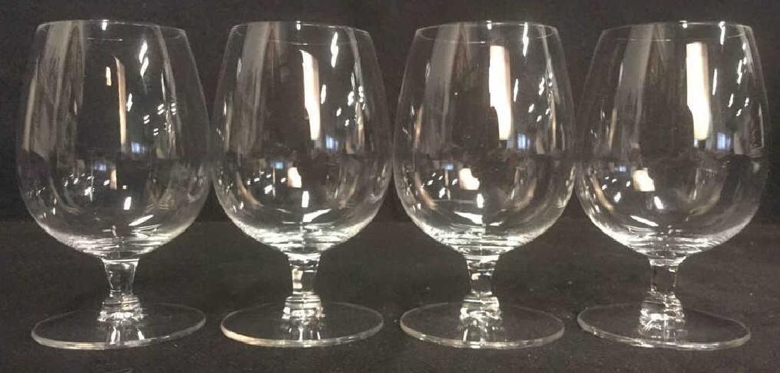 Lot 4 Short Stem Crystal Water Glasses
