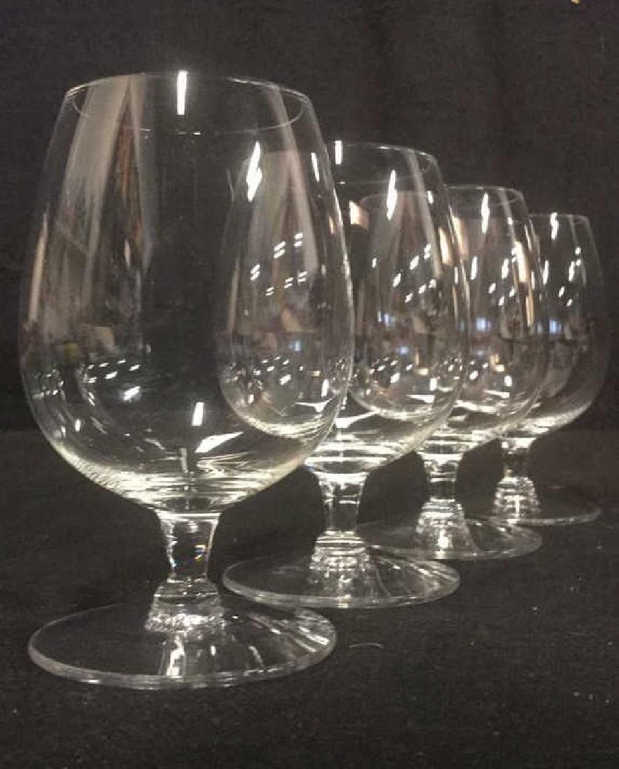 Lot 4 Short Stem Crystal Water Glasses - 3